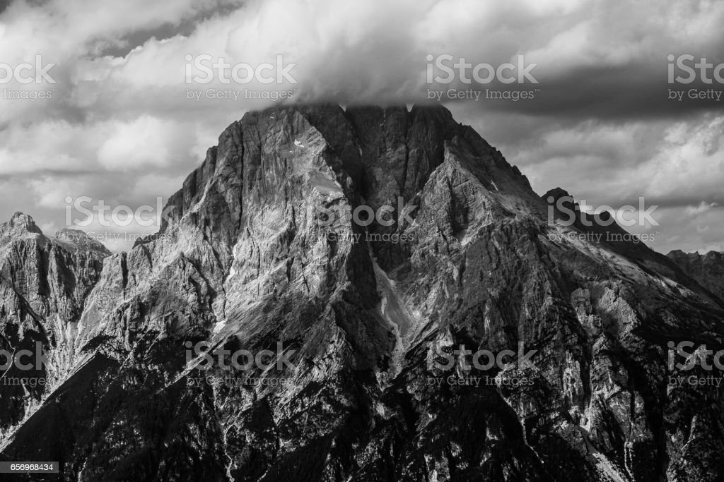 Peaks in the Dolomites, Italy stock photo