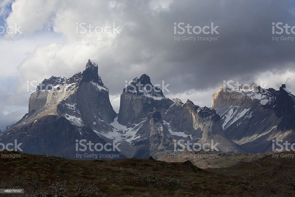 peaks in Torres del Paine national park royalty-free stock photo