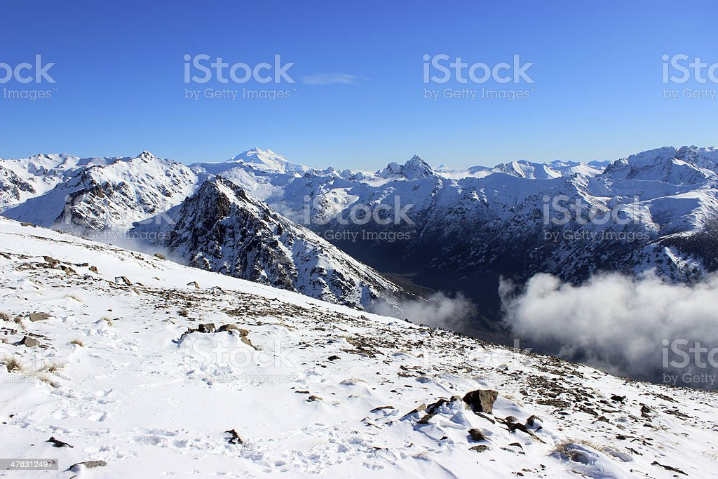 Peaks of Andes mountains- Patagonia Argentina royalty-free stock photo