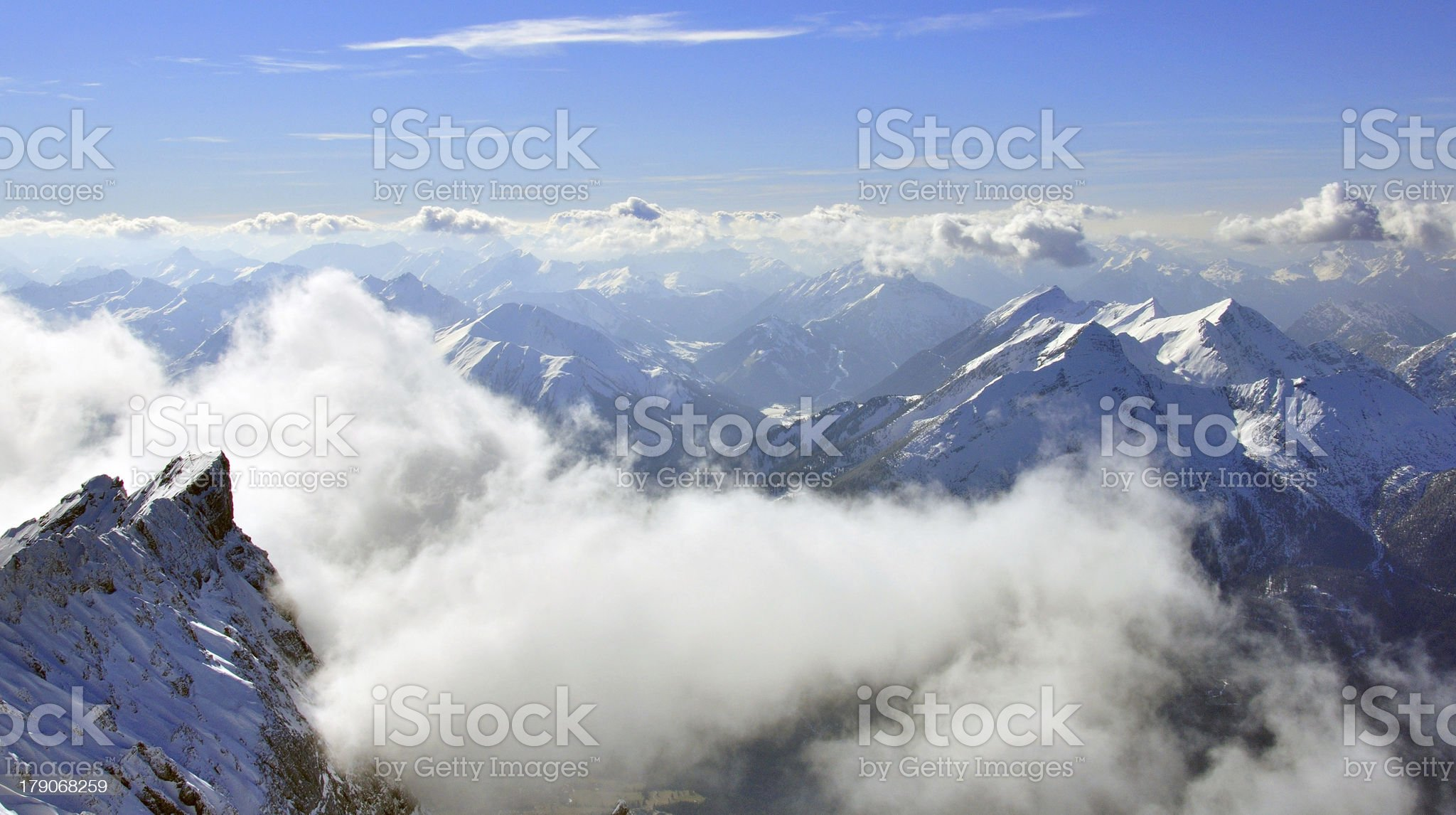 Peaks of Bavarian Alps royalty-free stock photo