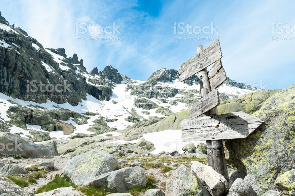 peaks of the central mountain system called Gredos stock photo