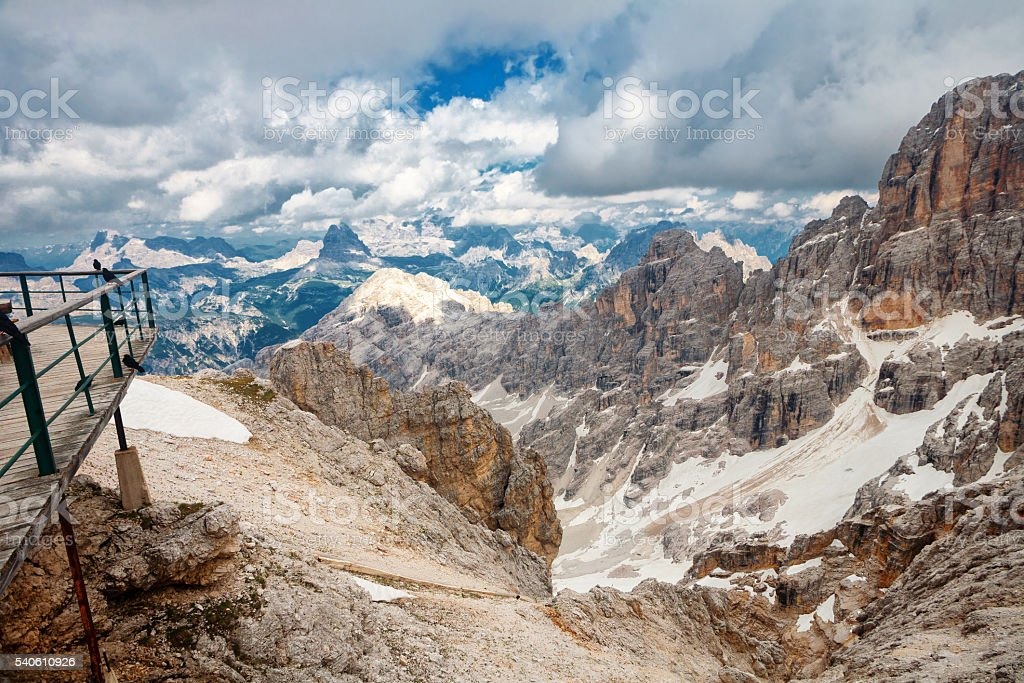 Peaks of the Dolomites, Italy stock photo