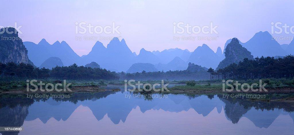 Peaks reflections II royalty-free stock photo