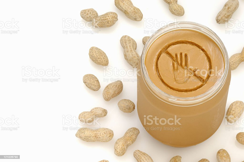 Peanut allergy royalty-free stock photo