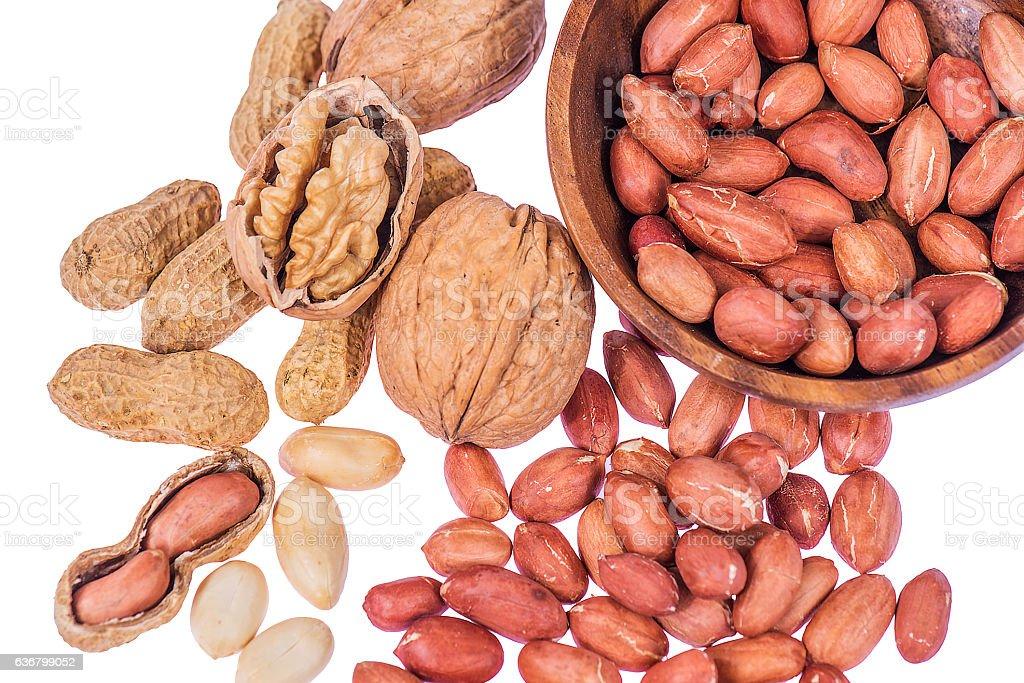 peanut & walnut stock photo