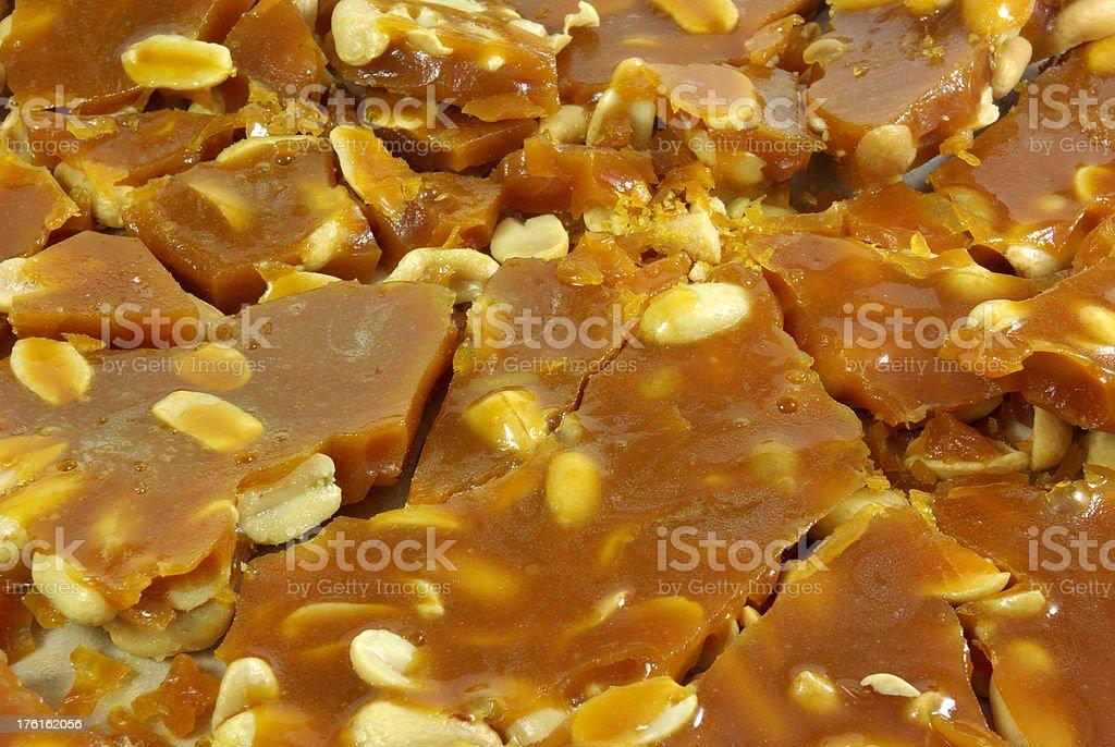 Peanut Brittle stock photo