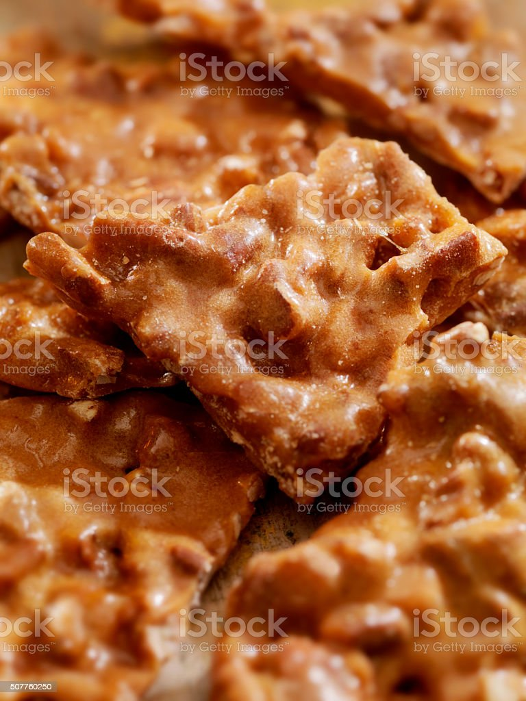 Peanut Brittle stock photo