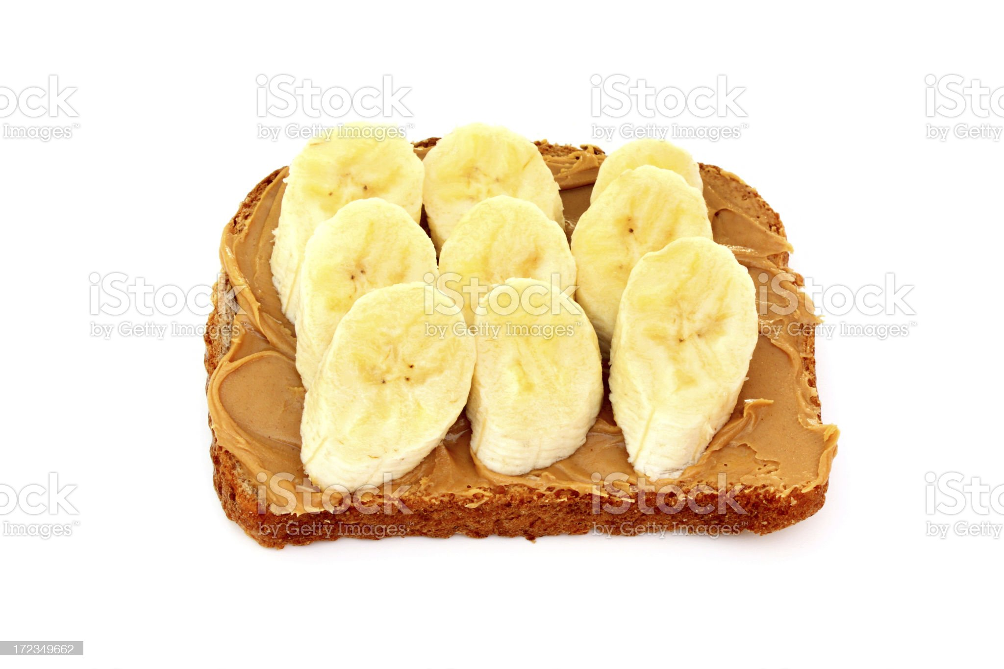 Peanut Butter and Banana Sandwich royalty-free stock photo