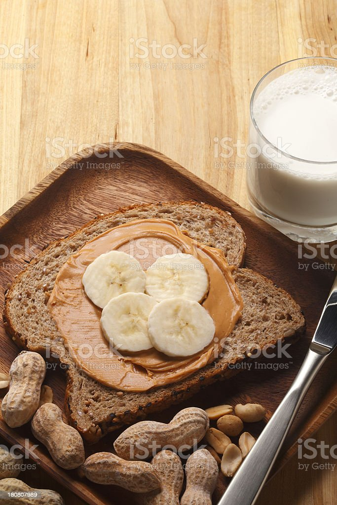 Peanut Butter and Bananas royalty-free stock photo