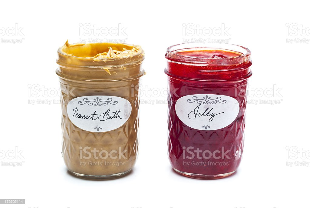 Peanut Butter and Jelly Jars stock photo