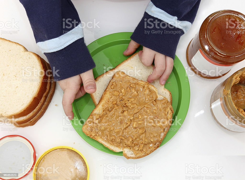 peanut butter and jelly stock photo