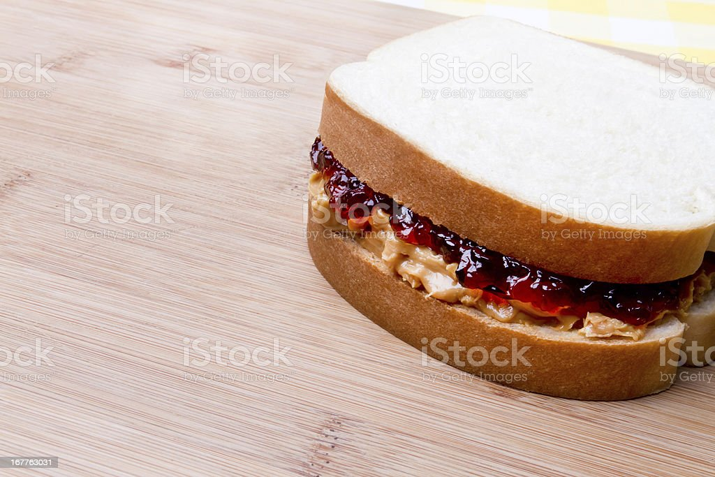 Peanut Butter and Jelly Sandwich stock photo