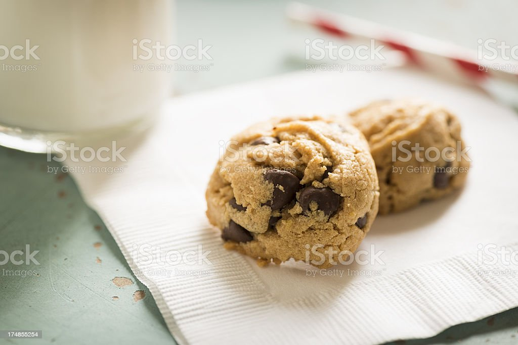 Peanut Butter Chocolate Chip Cookies royalty-free stock photo