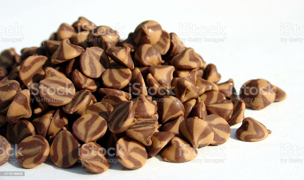 Peanut Butter Chocolate Chips royalty-free stock photo