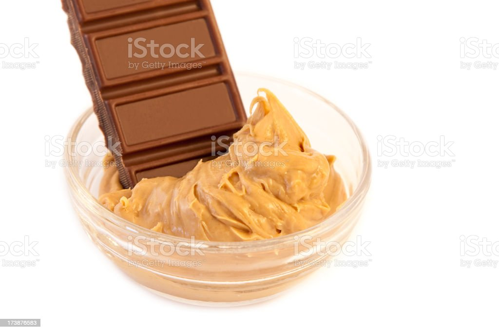 Peanut butter & chocolate royalty-free stock photo