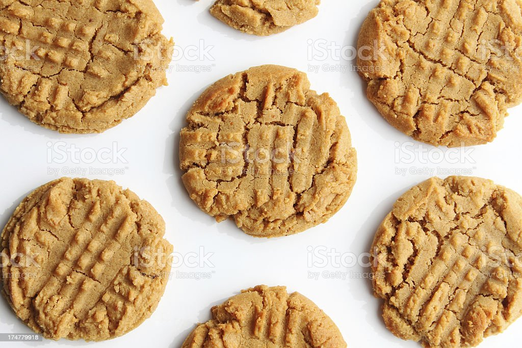 Peanut Butter Cookies royalty-free stock photo