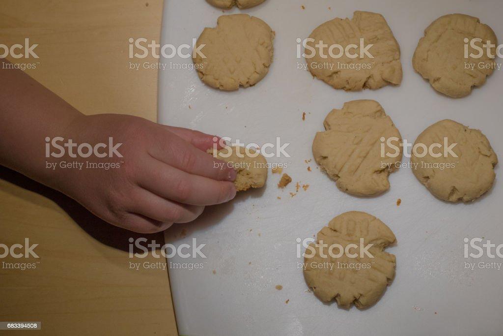 Peanut Butter Cookies stock photo