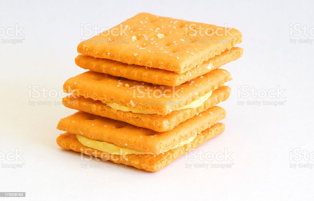 Peanut butter crackers royalty-free stock photo