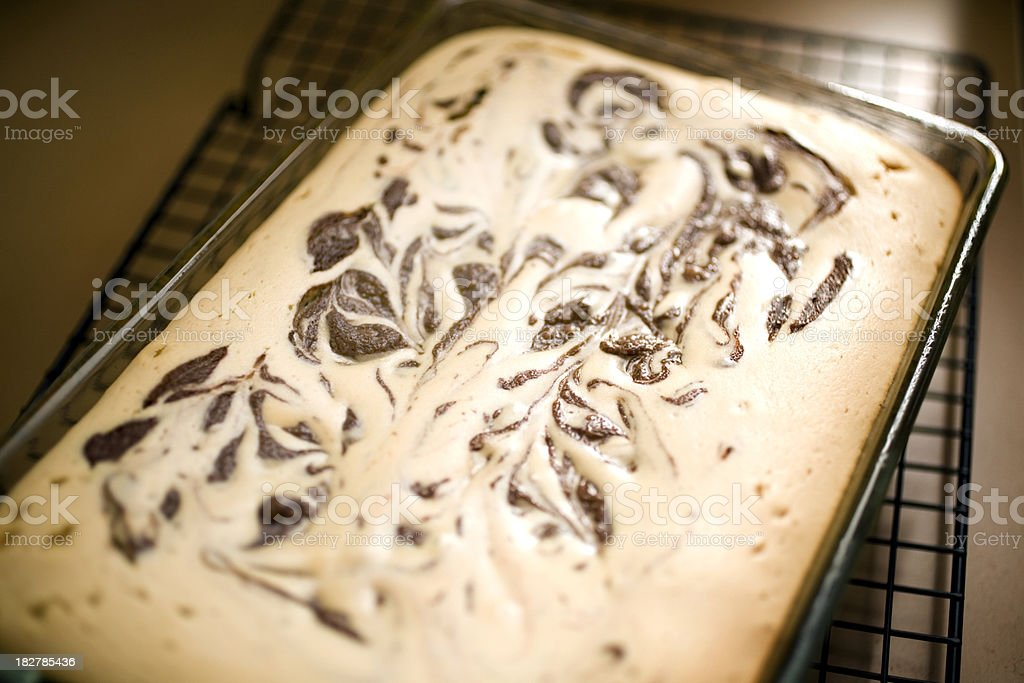 peanut butter cream cheese swirl brownies royalty-free stock photo