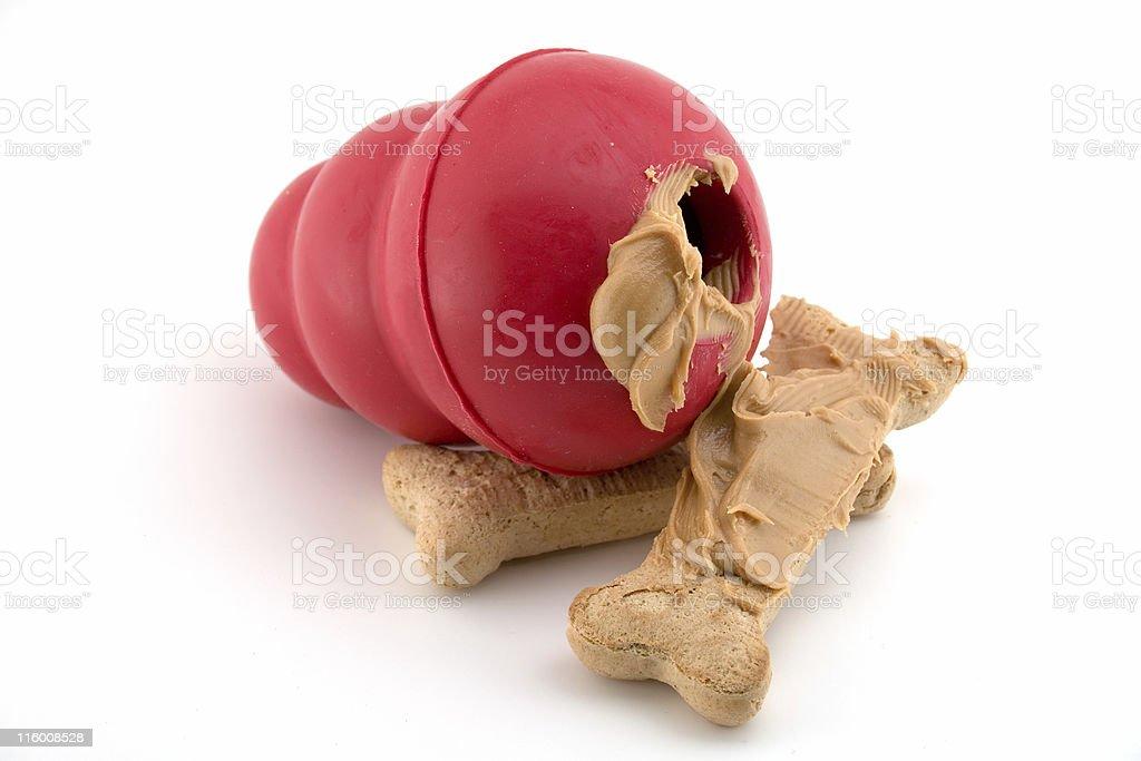 Peanut Butter Dog Treat stock photo