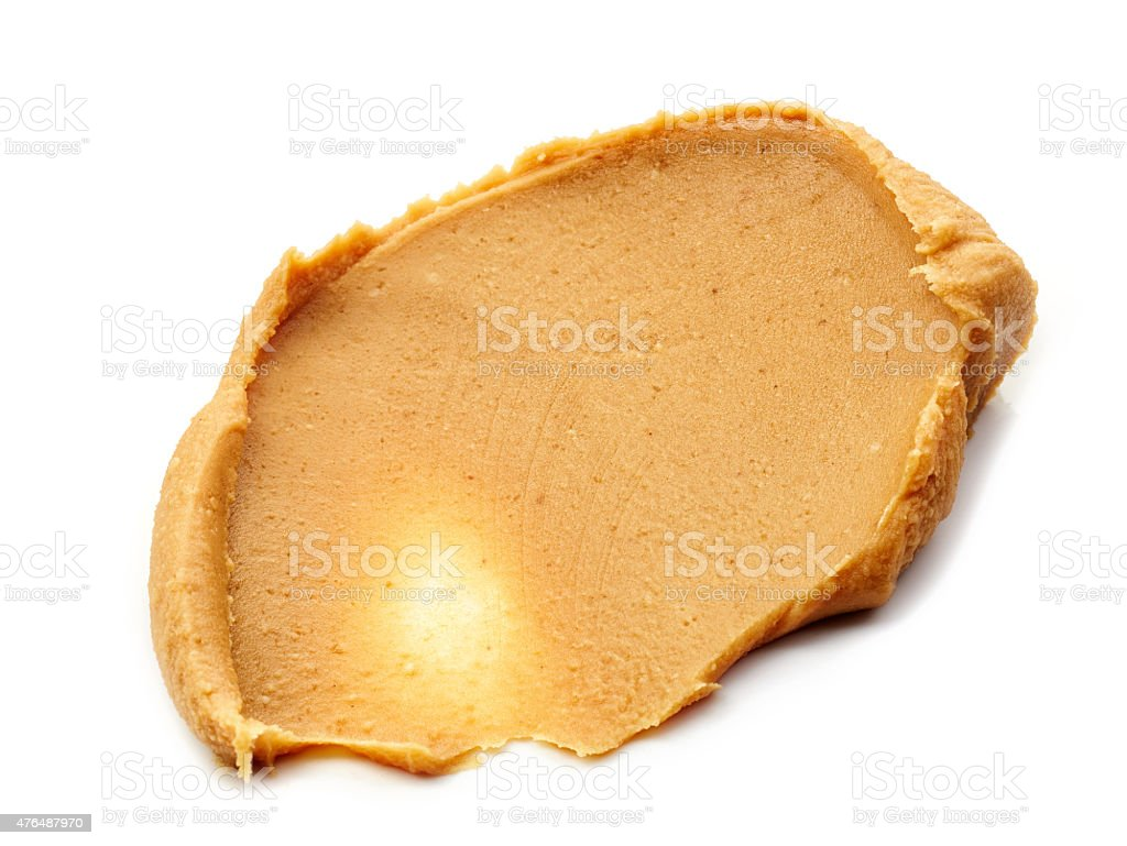 peanut butter isolated on white stock photo