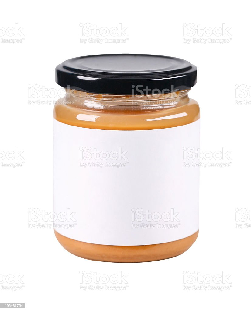Peanut butter jar stock photo