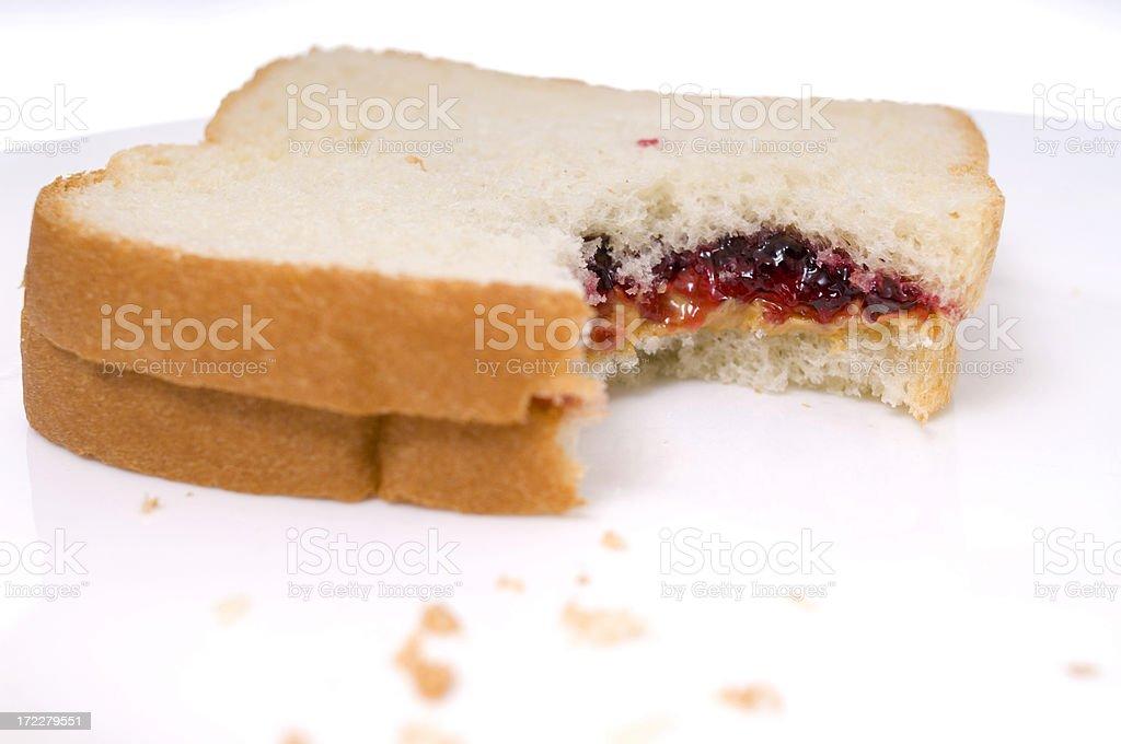 peanut butter & jelly royalty-free stock photo