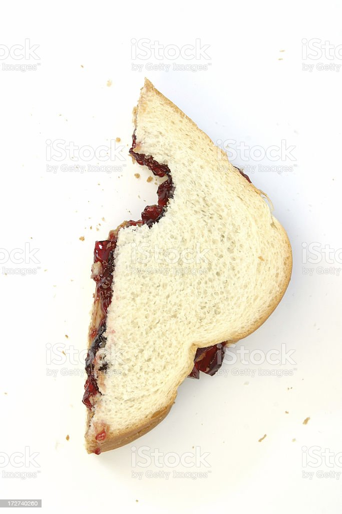 Peanut Butter & Jelly Sandwich stock photo