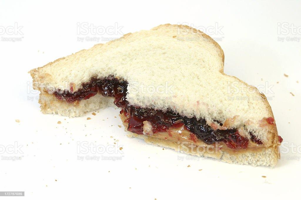 Peanut Butter & Jelly Sandwich royalty-free stock photo