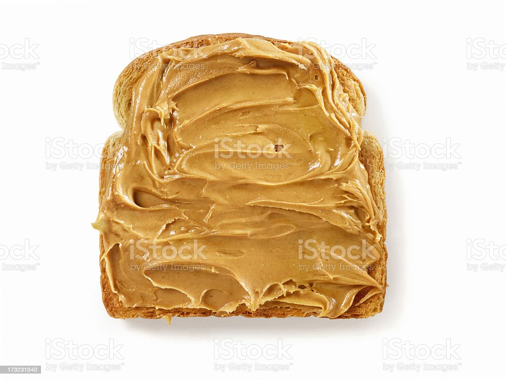 Peanut Butter on Toast stock photo