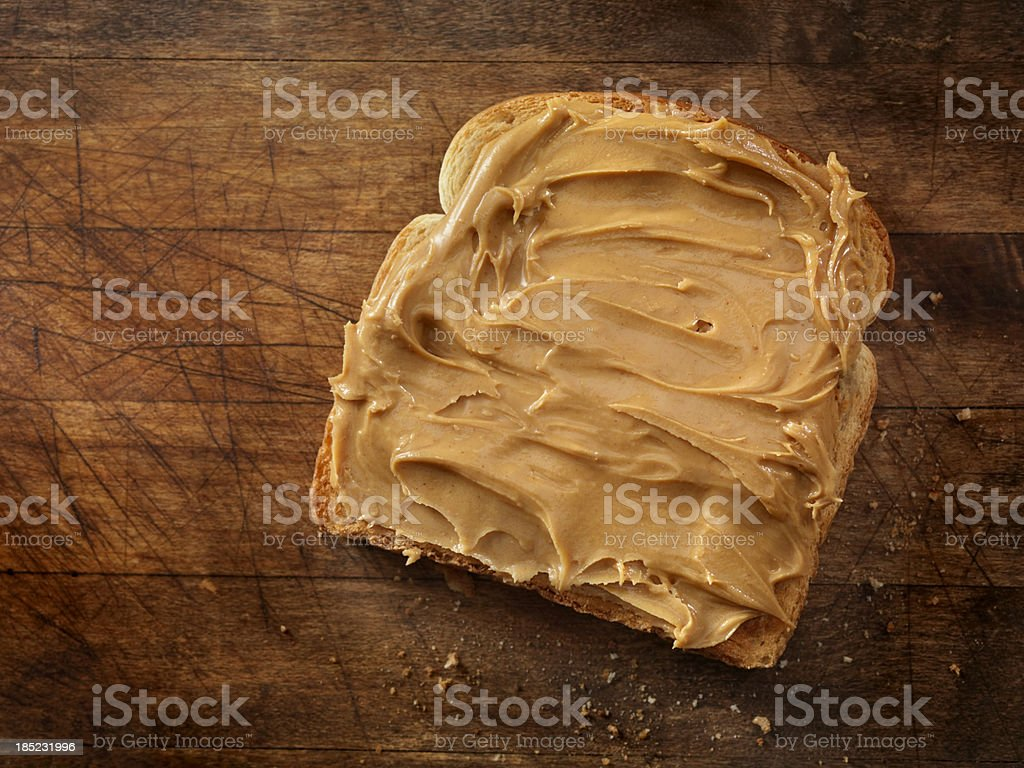 Peanut Butter on Toast royalty-free stock photo