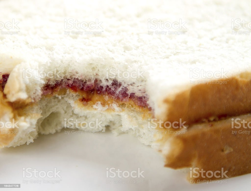 Peanut Butter sandwich royalty-free stock photo