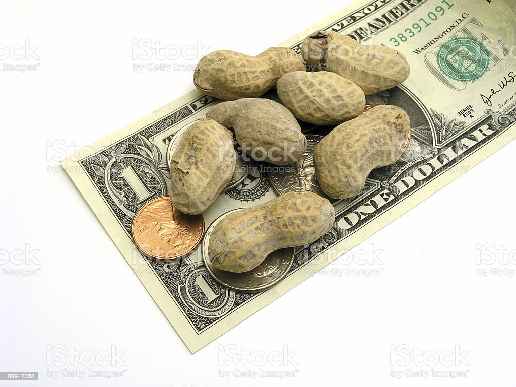 Peanut Change royalty-free stock photo