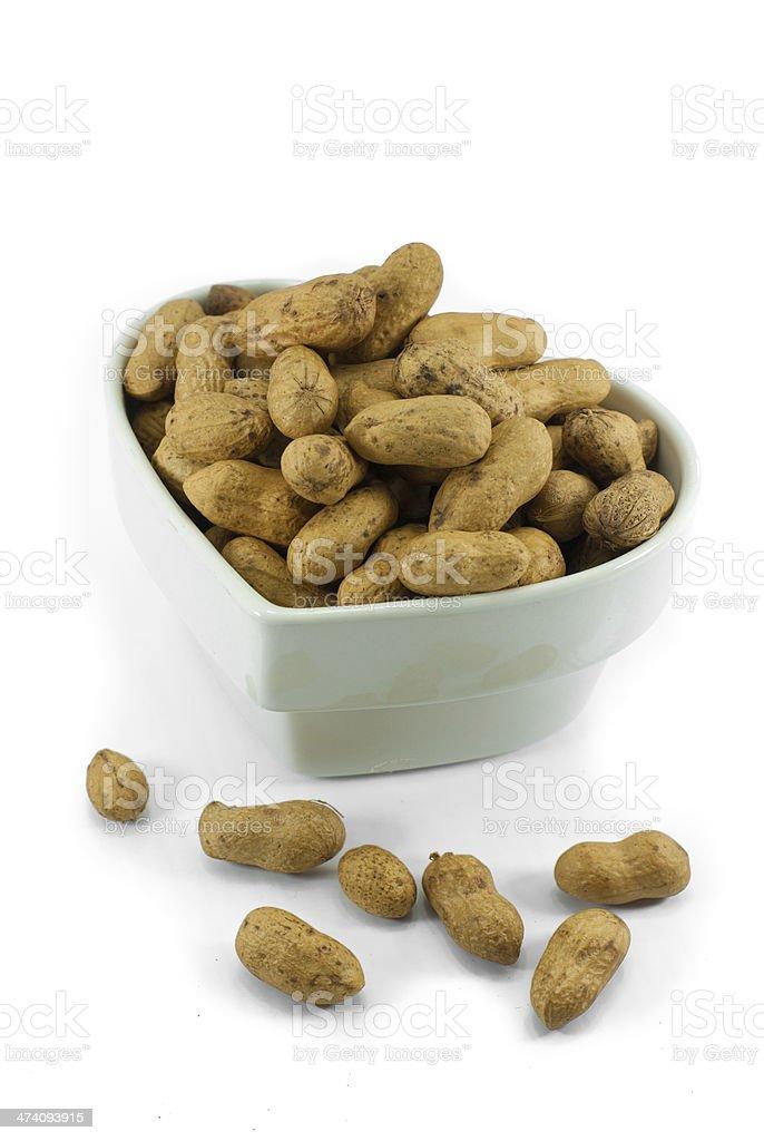 Peanut dry fruit or groundnut royalty-free stock photo
