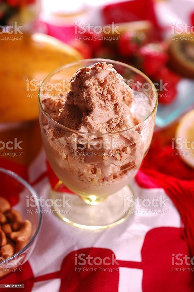 peanut ice cream royalty-free stock photo