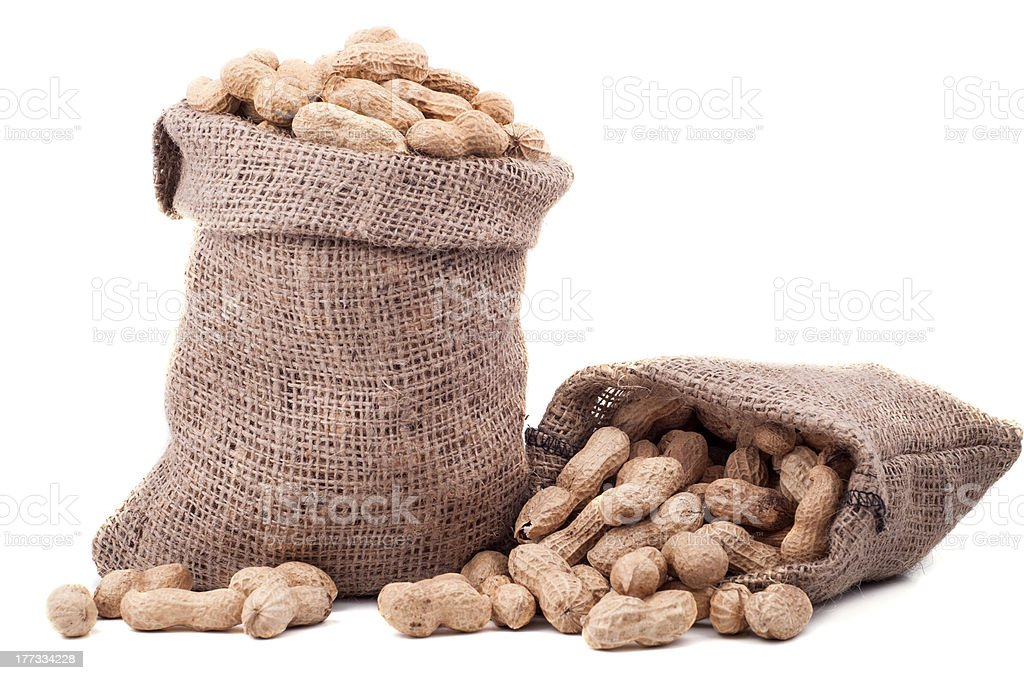 Peanut in a bag royalty-free stock photo