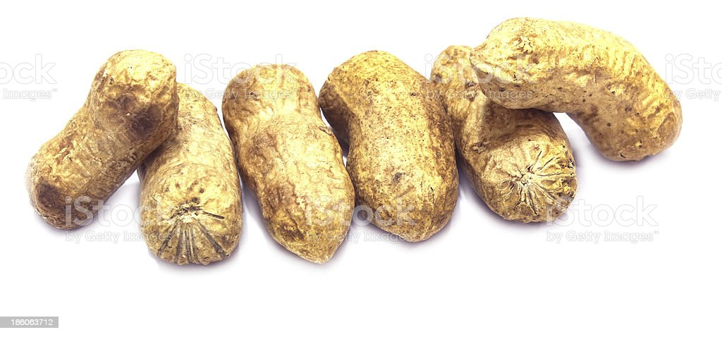 peanut in white background royalty-free stock photo