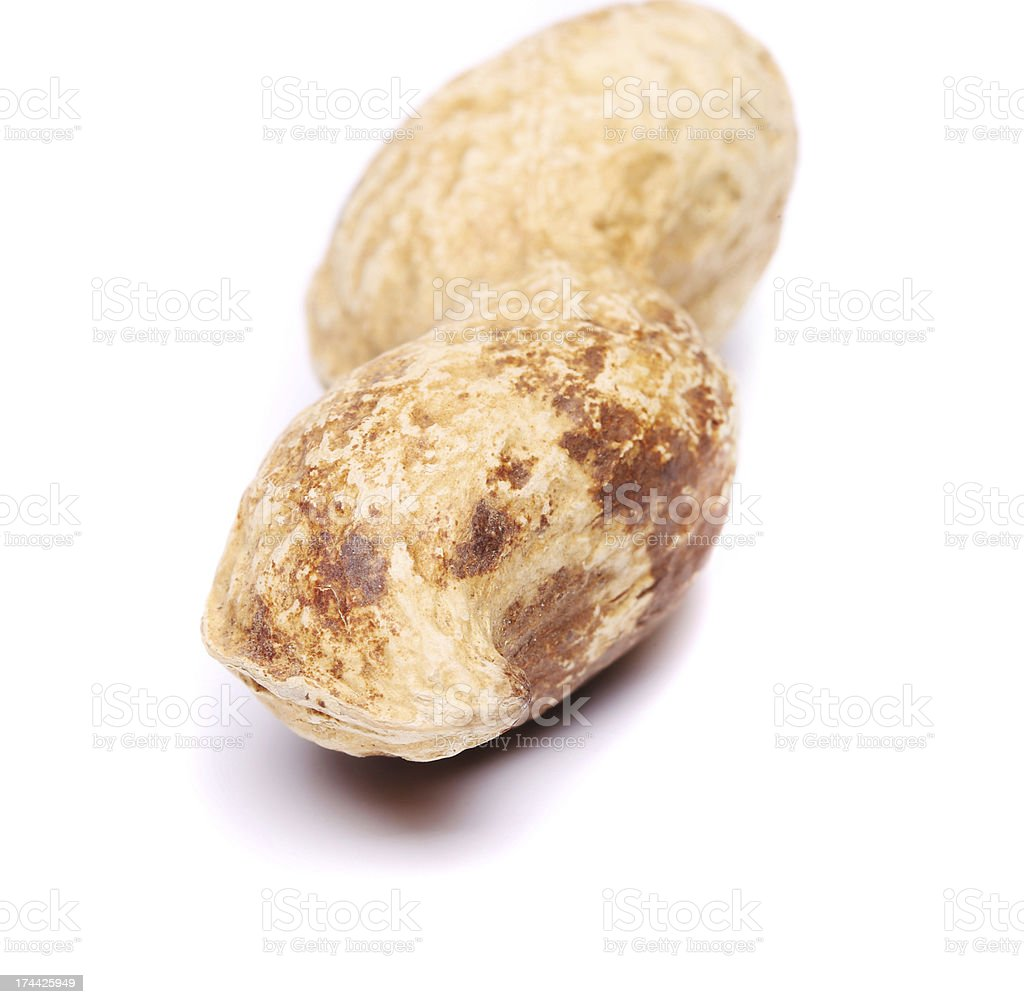 Peanut isolated on a white background close up royalty-free stock photo