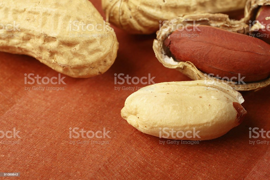 Peanut Macro stock photo