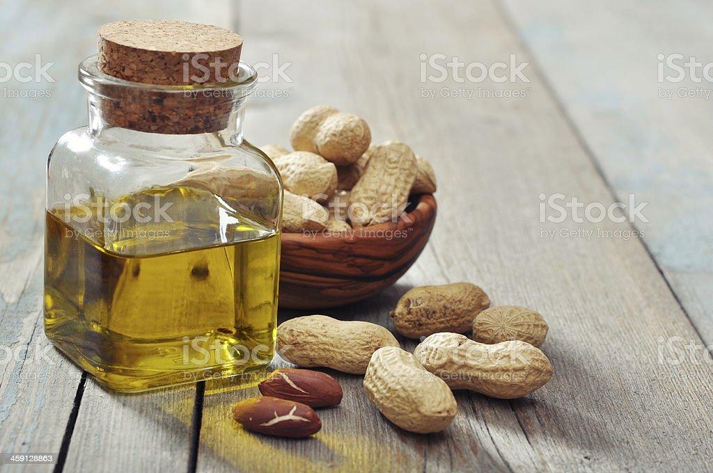 Peanut oil stock photo