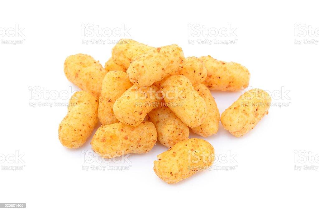 Peanut puffs isolated stock photo
