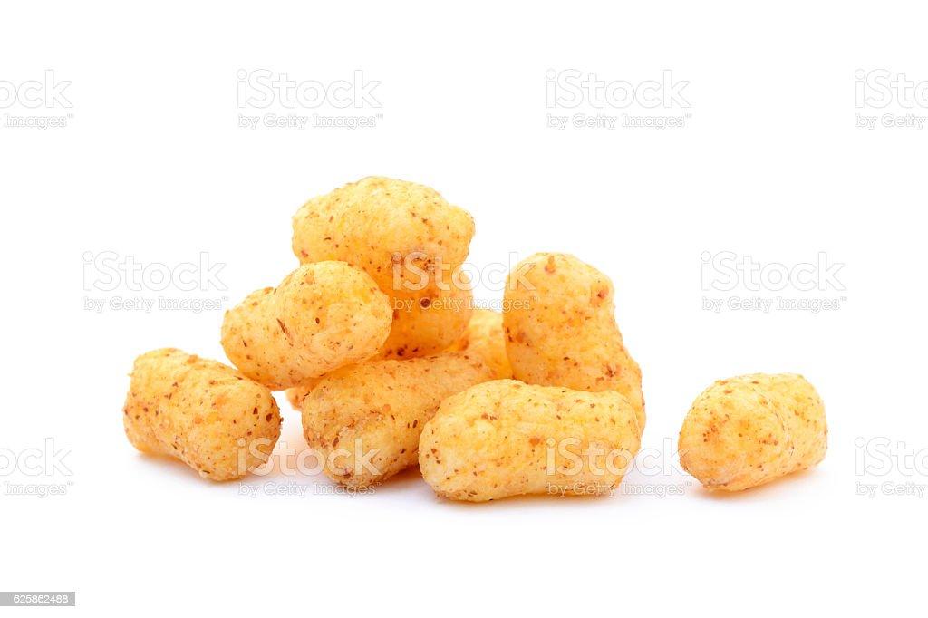 Peanut puffs stock photo