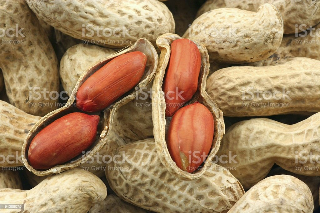 Peanut shells stock photo