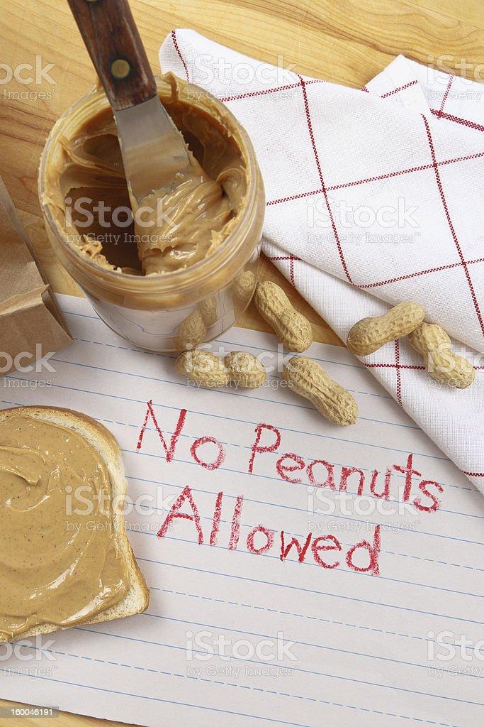 Peanut Warning stock photo