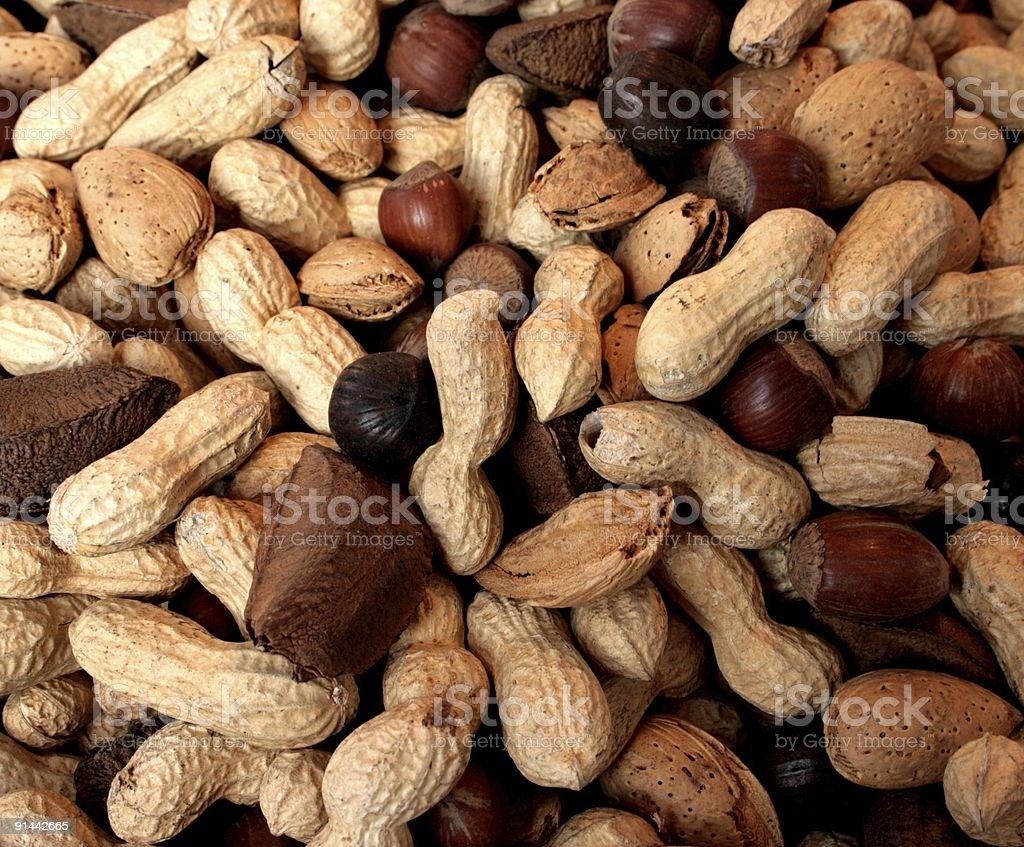 peanuts and nuts royalty-free stock photo
