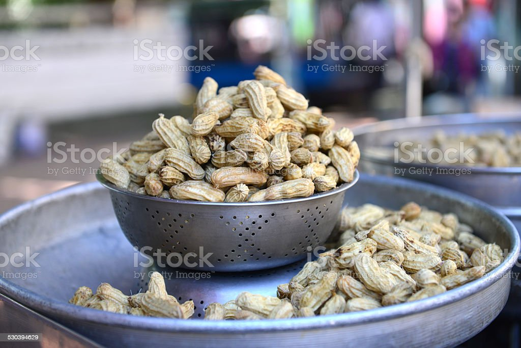 Peanuts Boiled stock photo