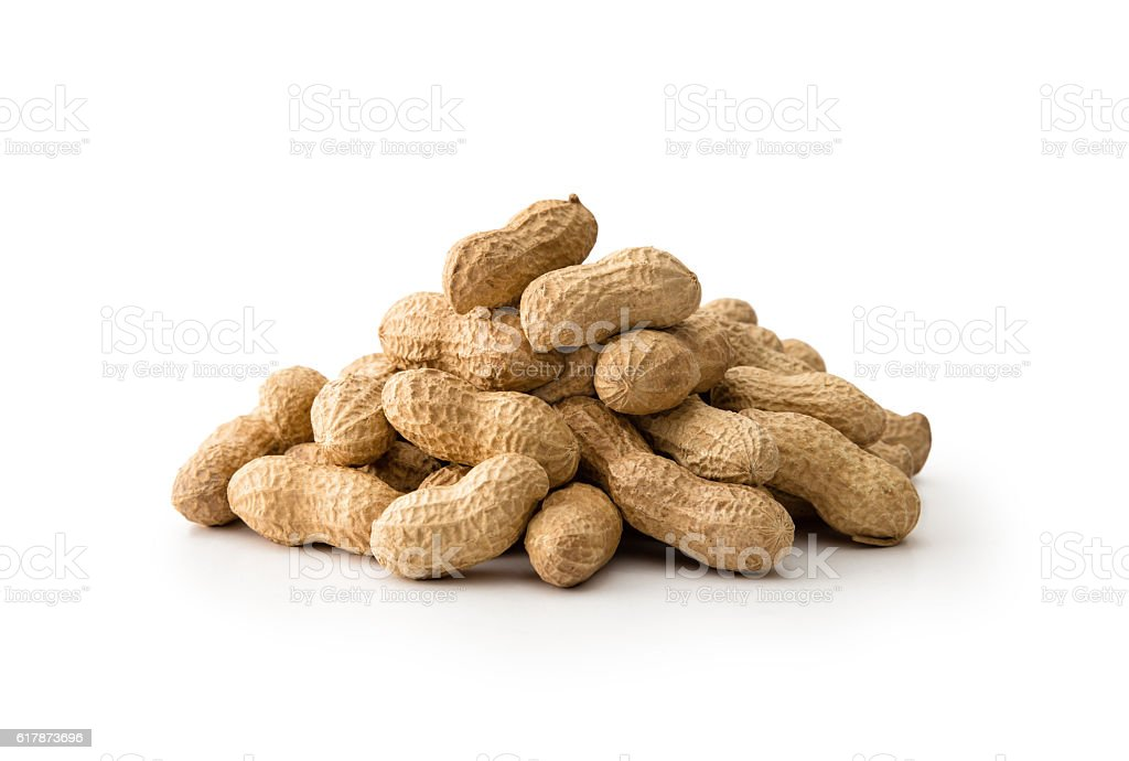Peanuts heap stock photo