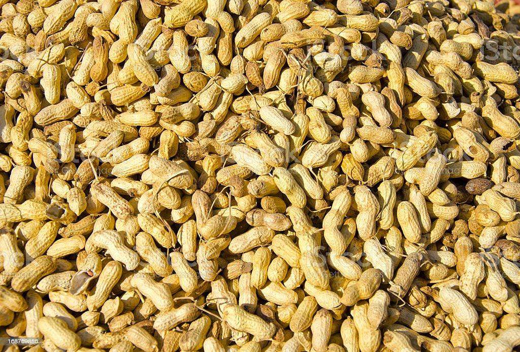 peanuts in asia market stock photo