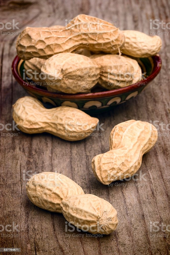 peanuts in shells stock photo