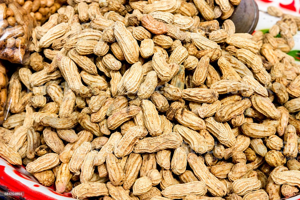 Peanuts In Shells stock photo